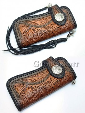 Distinctive Black leather of men's wallet