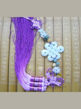 Safety Fastener Chinese Knot---Purple