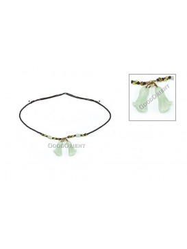 Double Cabbage Necklace