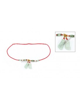 Double Feet Jade Necklace