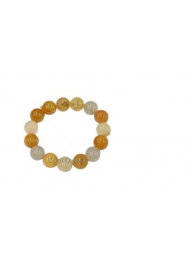Simple Yellow Jade Bracelet