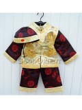 Yellow brocade clothe suit with dragon design