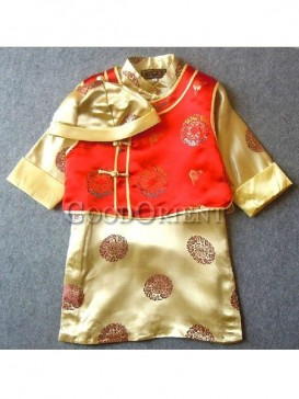 Yellow Robe and Mandarin Jacket for Boy