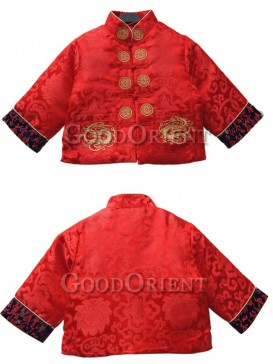 Dragon Embroidery & Jade Charm Design Chinese Suit