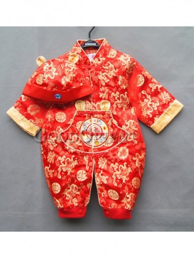 Red Dragon Brocade Clothes for Baby