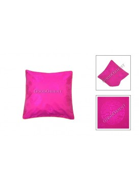 Chinese Longevity Cushion Cover---Peach