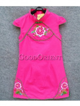 Red cotton clothe with embroidery design