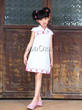 White cotton clothe with embroidery design
