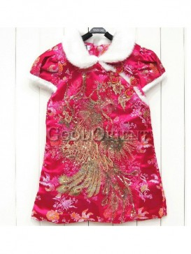Chinese cotton clothes with phoenix and sequin design