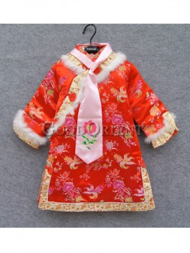 Brocade clothe with red color design