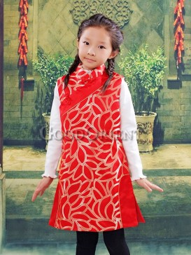Sole Red brocade clothe for girls