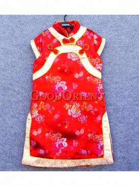 Exceptional Red brocade clothe for girls