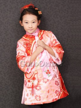 Pink brocade clothe for girls