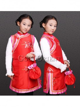 Inimitable Red Chinese clothe with embroidery design