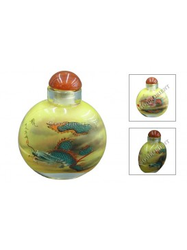 Flying Dragon in Cloud Snuff Bottle