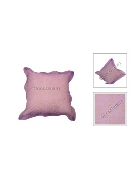 Handcraft Floral Cushion Cover---Pale Purple