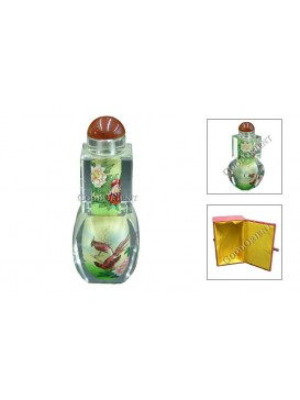 Cute Bird and Peony Snuff Bottle