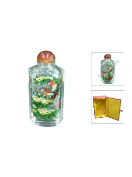 Woodpecker and Peony Snuff Bottle