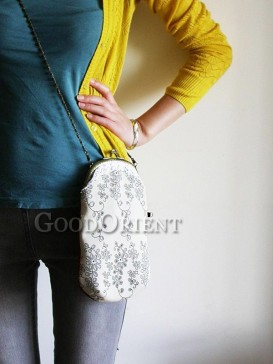 Handbag with lace plus flower prints design