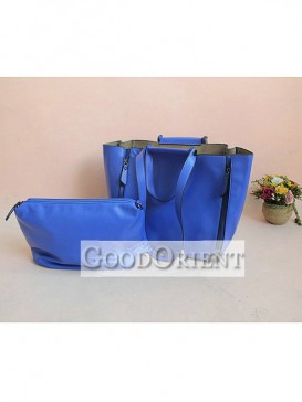 Blue handcrafted handbag