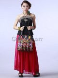 Handcrafted ethnic embroidered bag with tassel decoration