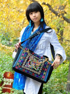Ethnic bag with phoenix embroidery design