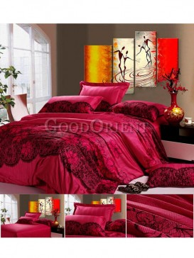 Chinese style rose red Bedding with oriental charm
