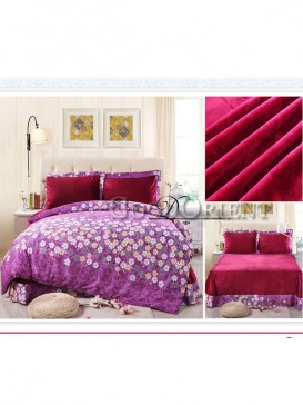 Blooming Flowers Prints China Style Bedding Set