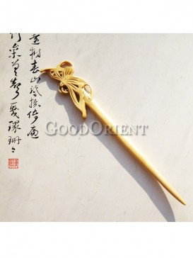 Hair pin with butterfly pattern design