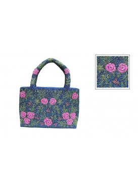 Small Flowers Bag---Blue