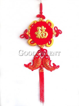 double fishes Chinese knot decoration