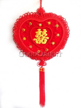 heart shaped Chinese knot for wedding