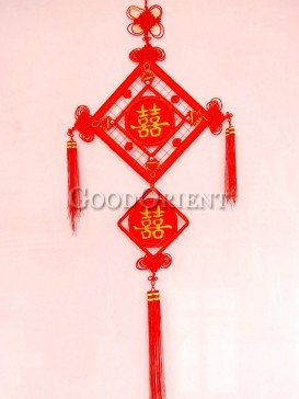 room decoration Chinese knot for double happiness