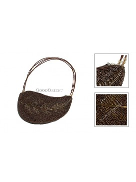 Grace Leaf Handbag---Coffee