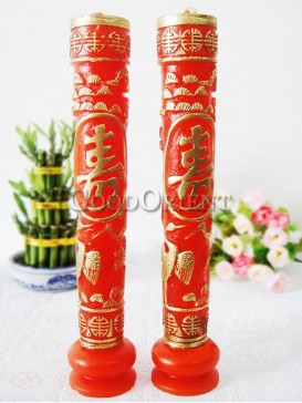 Longevity Birthday Pillar Candles