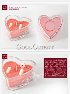 Wedding candles with heart shape design