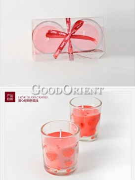 Red Candle in the glass