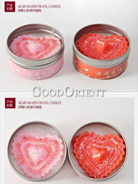 Wedding Candles with heart shape
