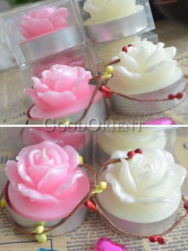 Scented Wedding candles with rose design
