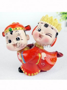 China style Wedding decoration bride and groom