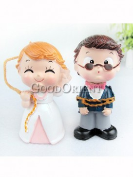 Wedding decoration with bride and groom design