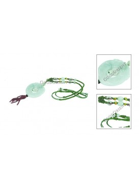 Lucky Twin Dragons Jade Necklace