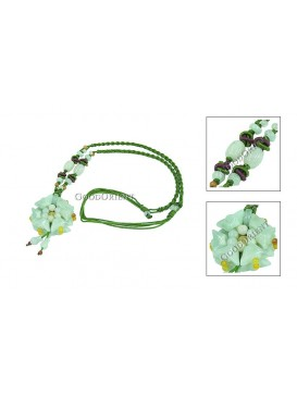 Classy Floral Jade Necklace