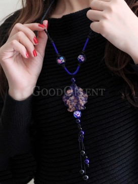 China style vintage sweater necklace