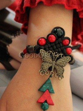 Handcrafted vintage bracelet with butterfly