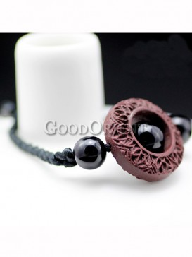 Chinese ethnic fashion agate lacquer bracelet