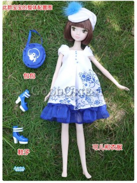 China style dolls of blue and white porcelain