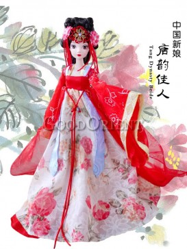 Exceptional China style dolls of Chinese bride
