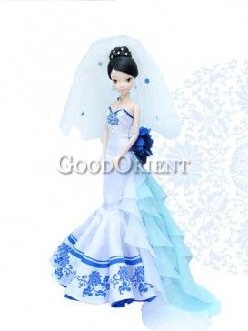 Porcelain China style dolls of lotus fairy