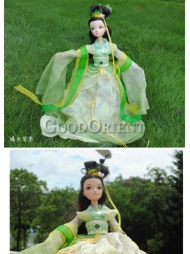 China style dolls of fairy of green tea